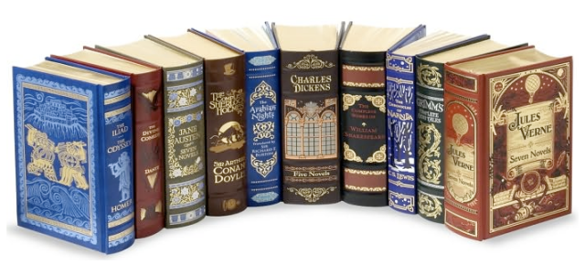 I've completely fallen for these Barnes and Noble leatherbound classics! Picture.