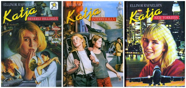 Katja books by Ellinor Rafaelsen with their Finnish covers.
