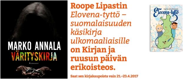 kirjan-ja-ruusun-päivä-2017-elovena-marko-annala-värityskirja