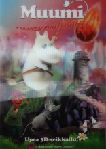 3D card (A5) for Moomins and the Comet Chase