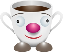Living cup, vector image, Illustrator