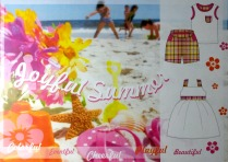 Joyful Summer, moodboard, Corel Draw