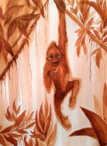 Red Monkey in the Jungle