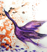 Learning to Fly ink painting